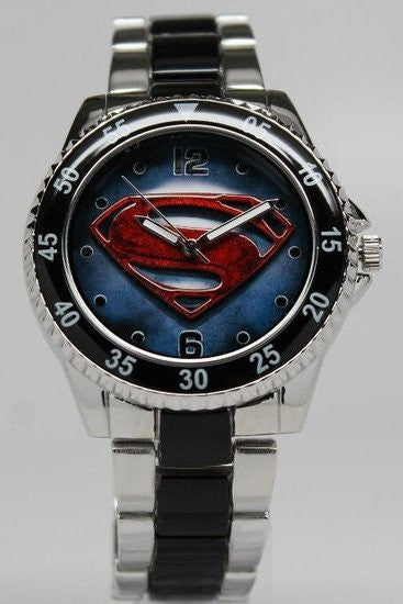 Superman Man of Steel Watch Stainless (MOS8001) - SuperheroWatches.com