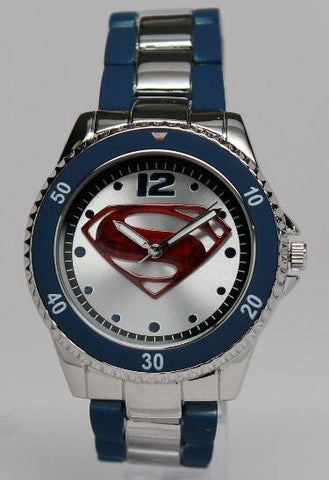Superman Man of Steel Watch Stainless Steel Blue (MOS8008)