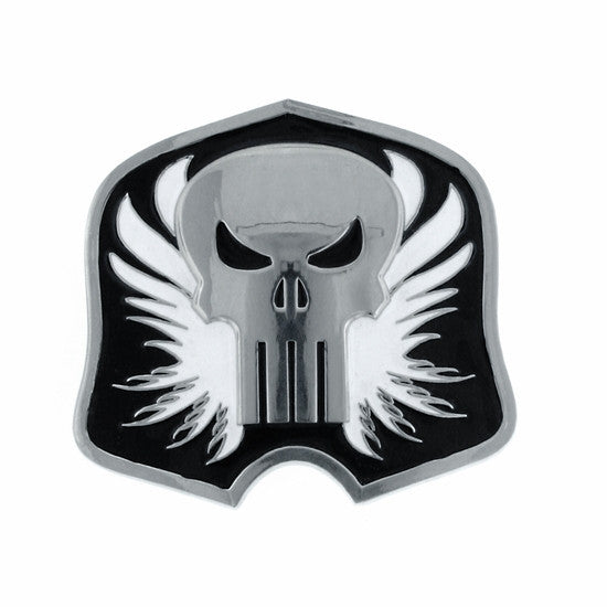 Punisher Silver Black Shield Buckle - SuperheroWatches.com