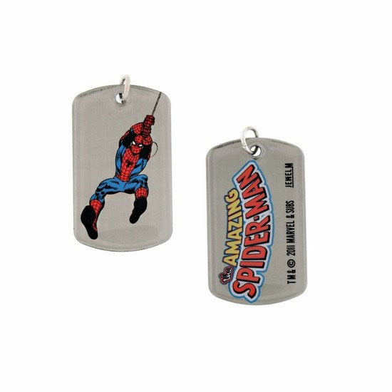 Swinging Spider-Man Double Sided Dog Tag Necklace - SuperheroWatches.com