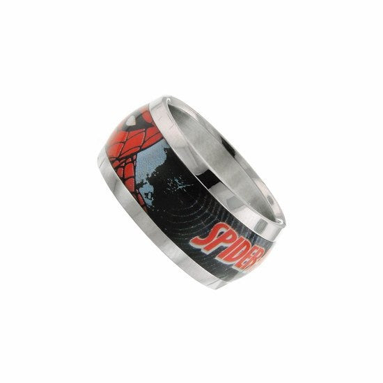 Spider-Man Black Ring Size 8 - SuperheroWatches.com