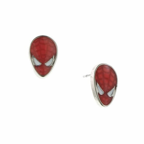 Spiderman Red Enamel Face Stud Earring - SuperheroWatches.com