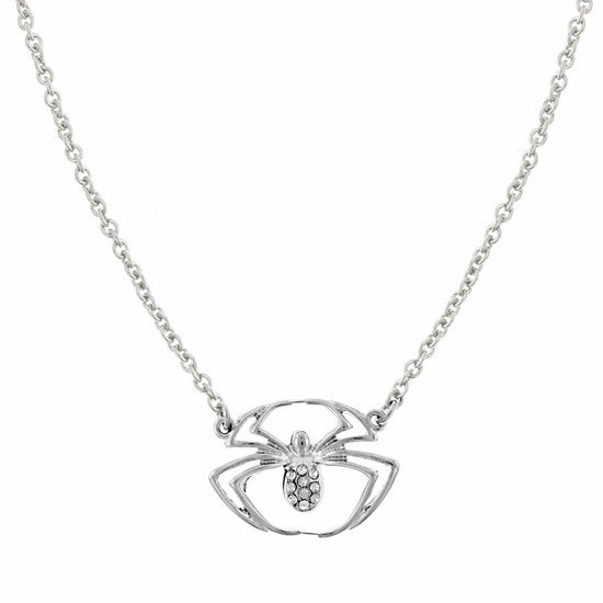 Spider Crystal Pendant Necklace - SuperheroWatches.com
