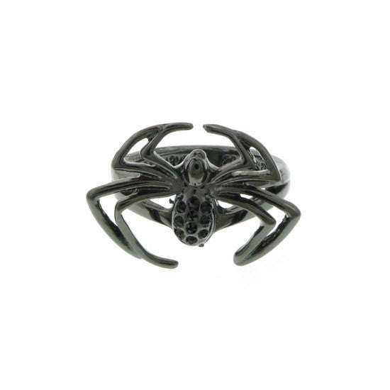 Black Spiderman Crystal Ring Size 7 - SuperheroWatches.com