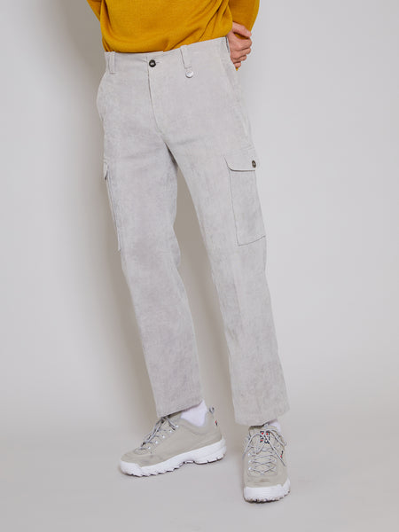 'Orando' Grey Corduroy Trousers