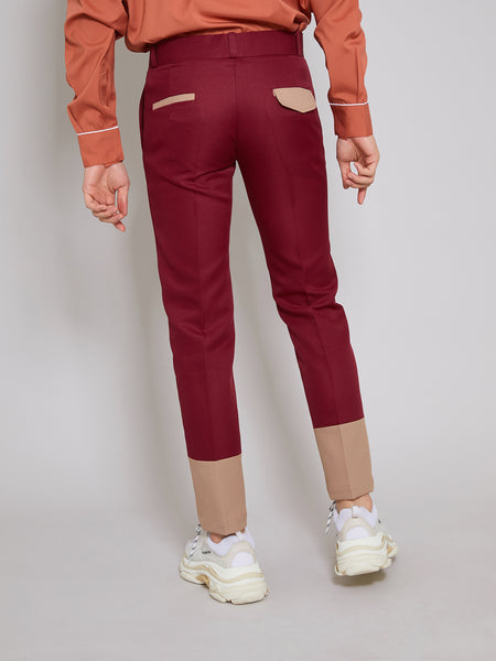 'Silent' Red Trousers