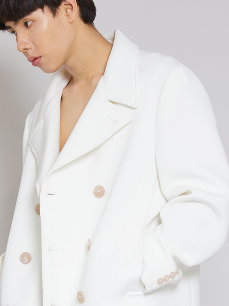 'Attention' Alabaster Overcoat