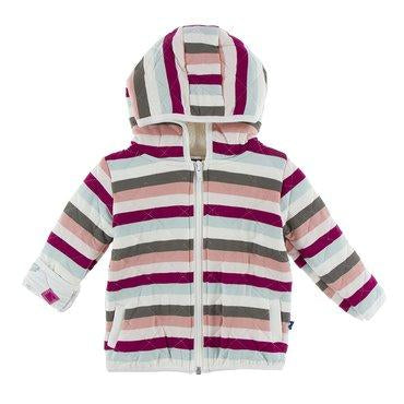 BABY GEOLOGY STRIPE PRINT QUILTED JACKET-KICKEE PANTS-Kitson LA