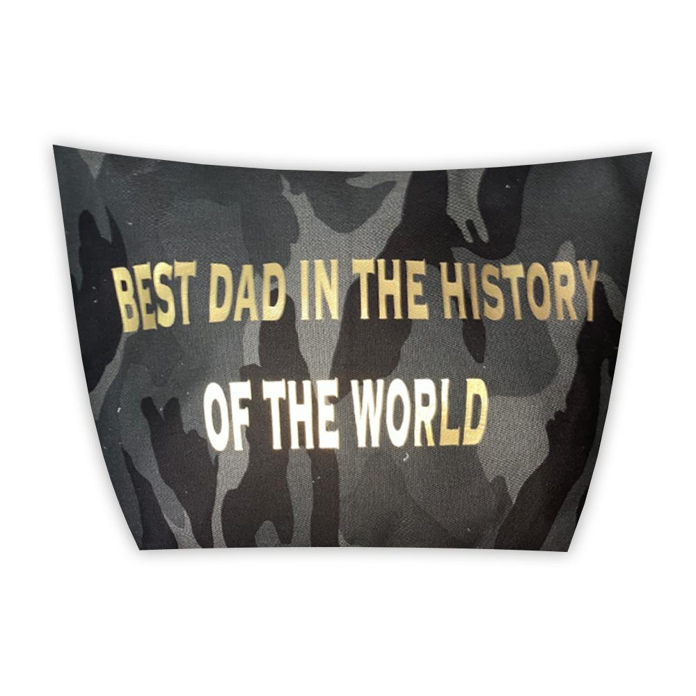BEST DAD IN THE HISTORY OF THE WORLD CAMO POUCH-TOTEM SALVAGED-Kitson LA