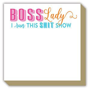 BOSS LADY I RUN THIS SHIT SHOW LUXE NOTEPAD-ROSANNEBECK COLLECTIONS-Kitson LA