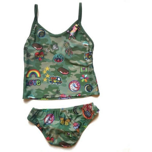 CAMO PATCHES TANKINI-CRUZ SWIM-Kitson LA
