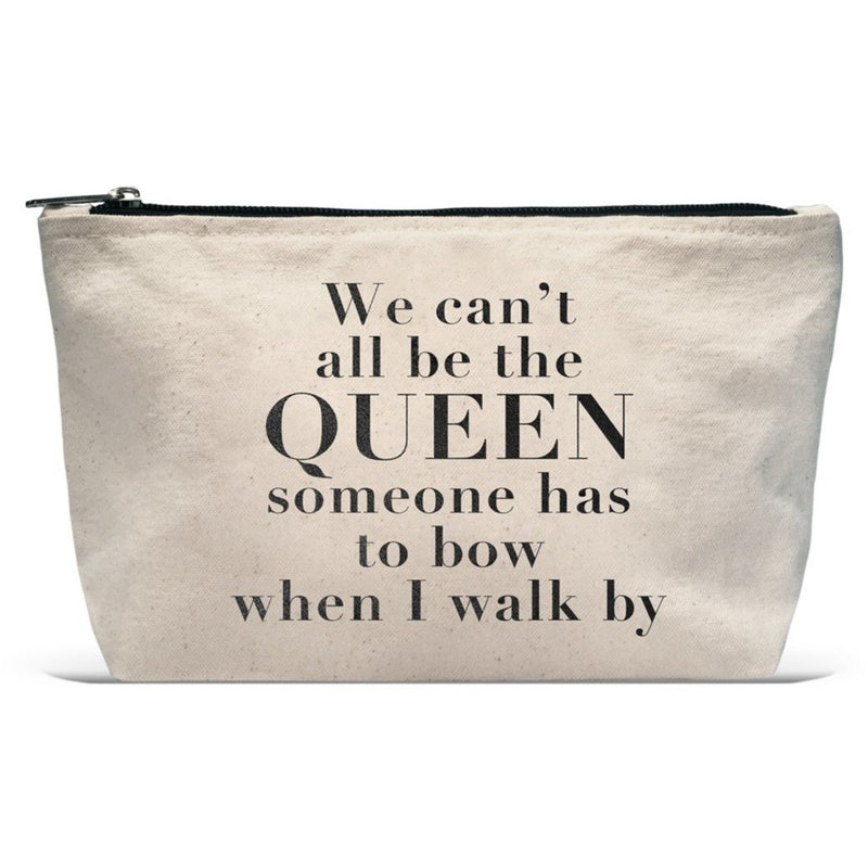 CAN'T ALL BE QUEEN CANVAS POUCH-LATC-Kitson LA