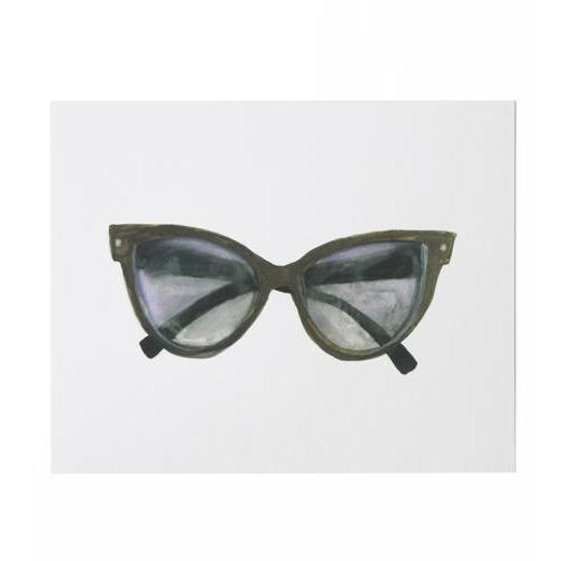 CAT EYE SUNNIES ART PRINT-THIMBLEPRESS-Kitson LA