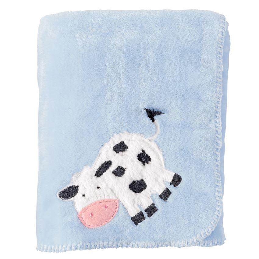 COW FLEECE BLANKET-MUD PIE-Kitson LA