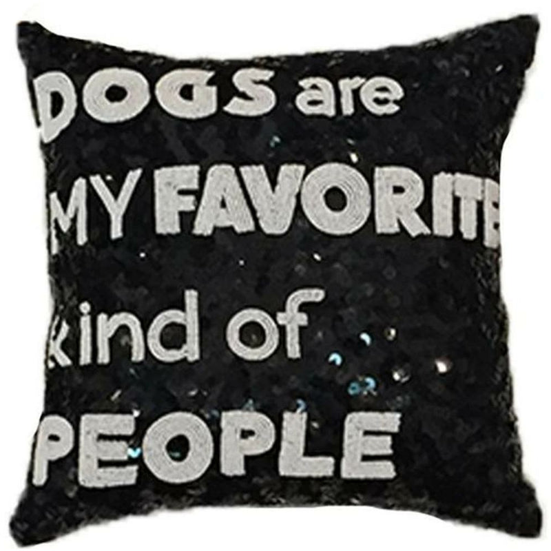 DOGS FAVORITE SEQUIN PILLOW-TIANA DESIGNS-Kitson LA