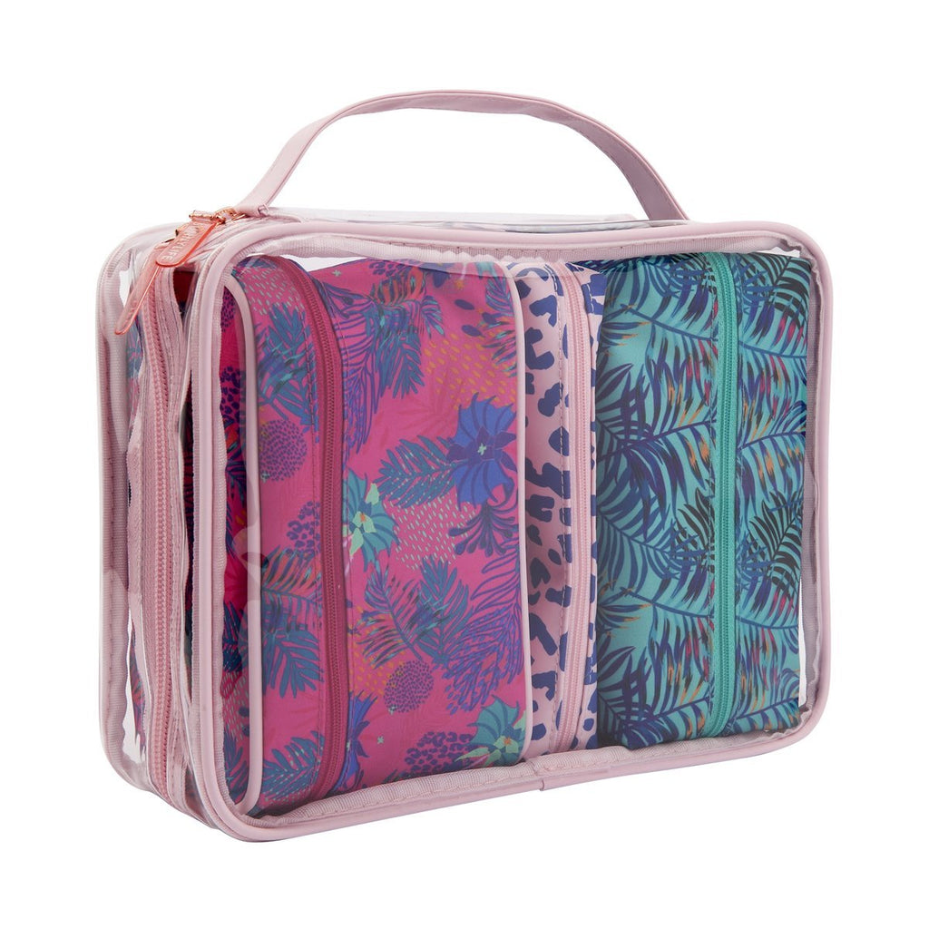 ELECTRIC BLOOM TRAVEL BAG SET-SUNNYLIFE-Kitson LA