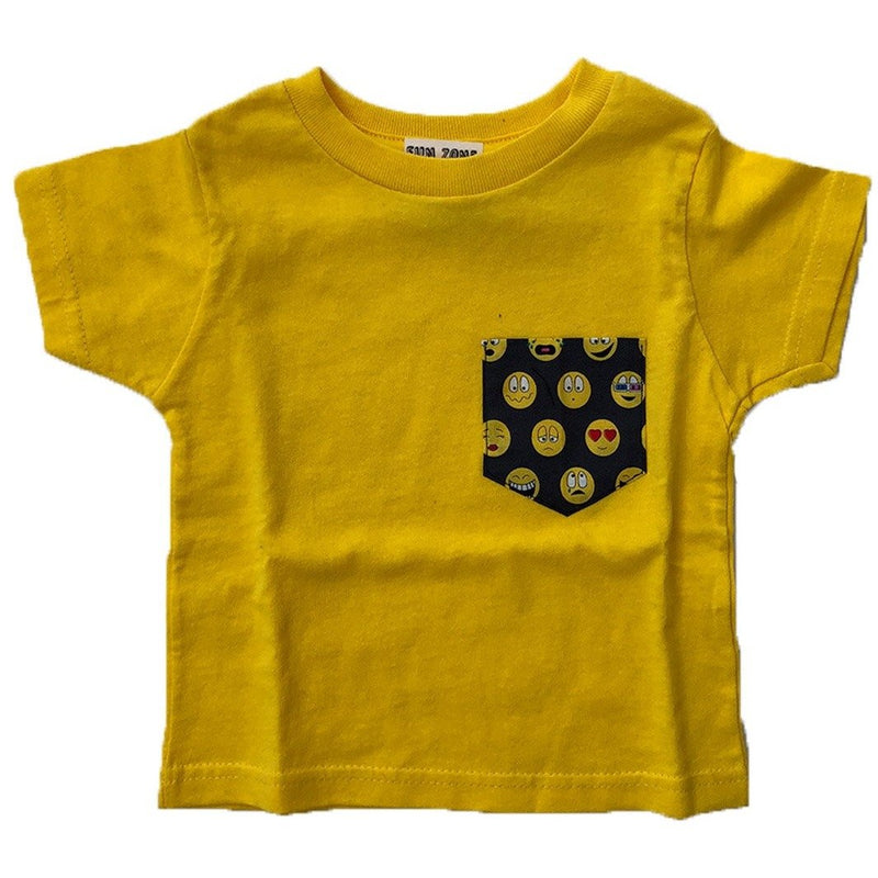 EMOTICONS POCKET TEE-FUN ZONE-Kitson LA