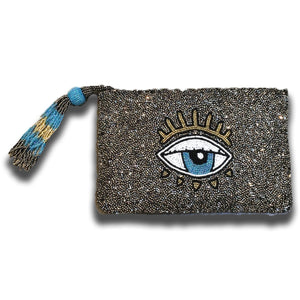 EVIL EYE BEADED TASSEL WRISTLET-TIANA DESIGNS-Kitson LA