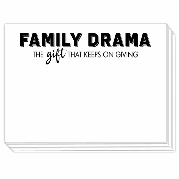 FAMILY DRAMA THE GIFT KEEPS ON GIVING MINI SLAB NOTEPAD-ROSANNEBECK COLLECTIONS-Kitson LA