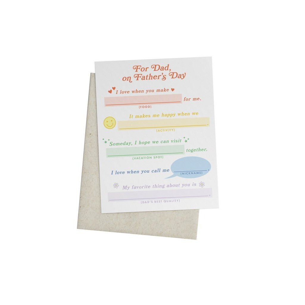 FATHER'S DAY MAD LIBS CARD-KNOT & BOW-Kitson LA