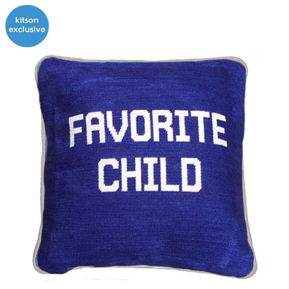 FAVORITE CHILD NEEDLEPOINT PILLOW-SMATHERS & BRANSON-Kitson LA