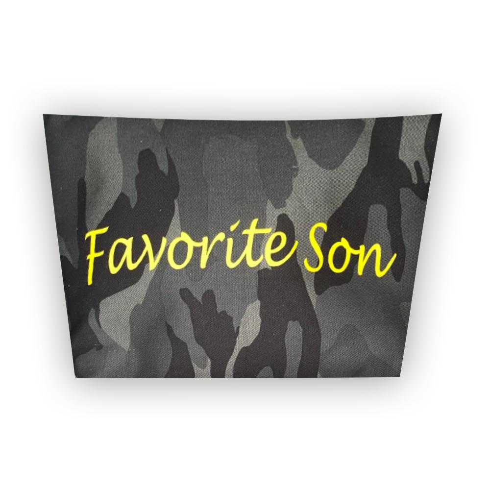 FAVORITE SON CAMO POUCH-TOTEM SALVAGED-Kitson LA