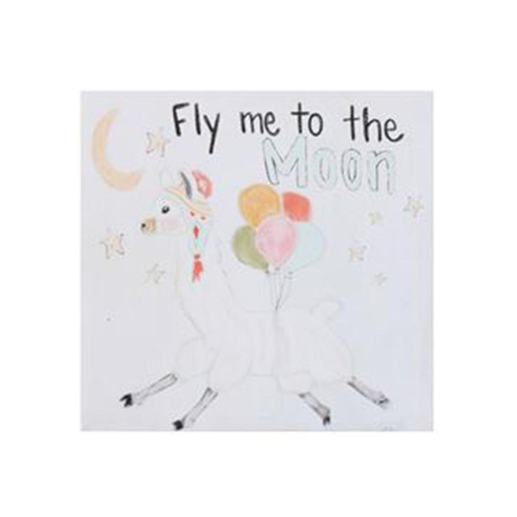 FLY ME TO THE MOON CANVAS-CREATIVE CO-OP-Kitson LA