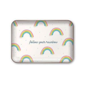 FOLLOW YOUR RAINBOW METAL TRAY-PUNCH STUDIO-Kitson LA
