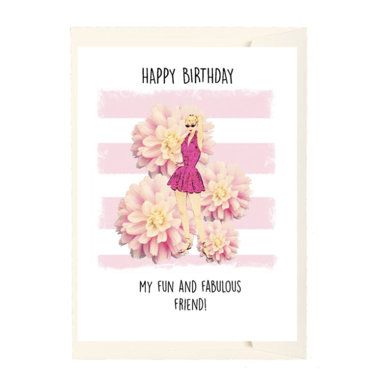 Fun and Fabulous Birthday Card-PAPER LOVE BOUTIQUE-Kitson LA