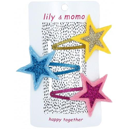 GALAXY STAR TRIO HAIR CLIP-LILY AND MOMO-Kitson LA