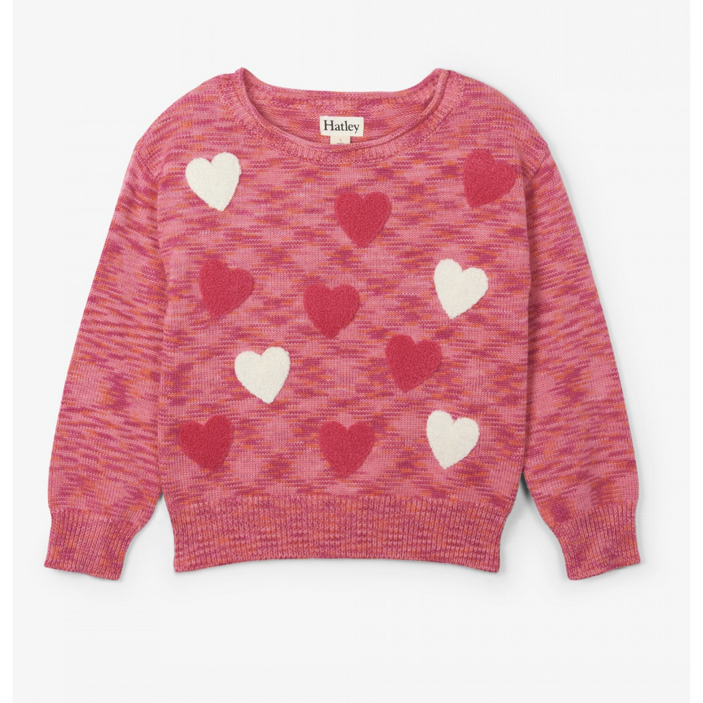 GIRLS CUTE HEARTS SWEATER-HATLEY-Kitson LA