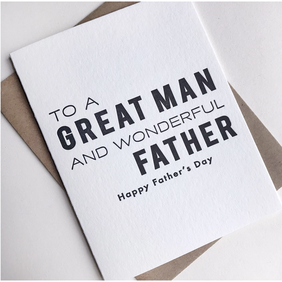 GREAT MAN FATHER'S DAY CARD-STEEL PETAL PRESS-Kitson LA