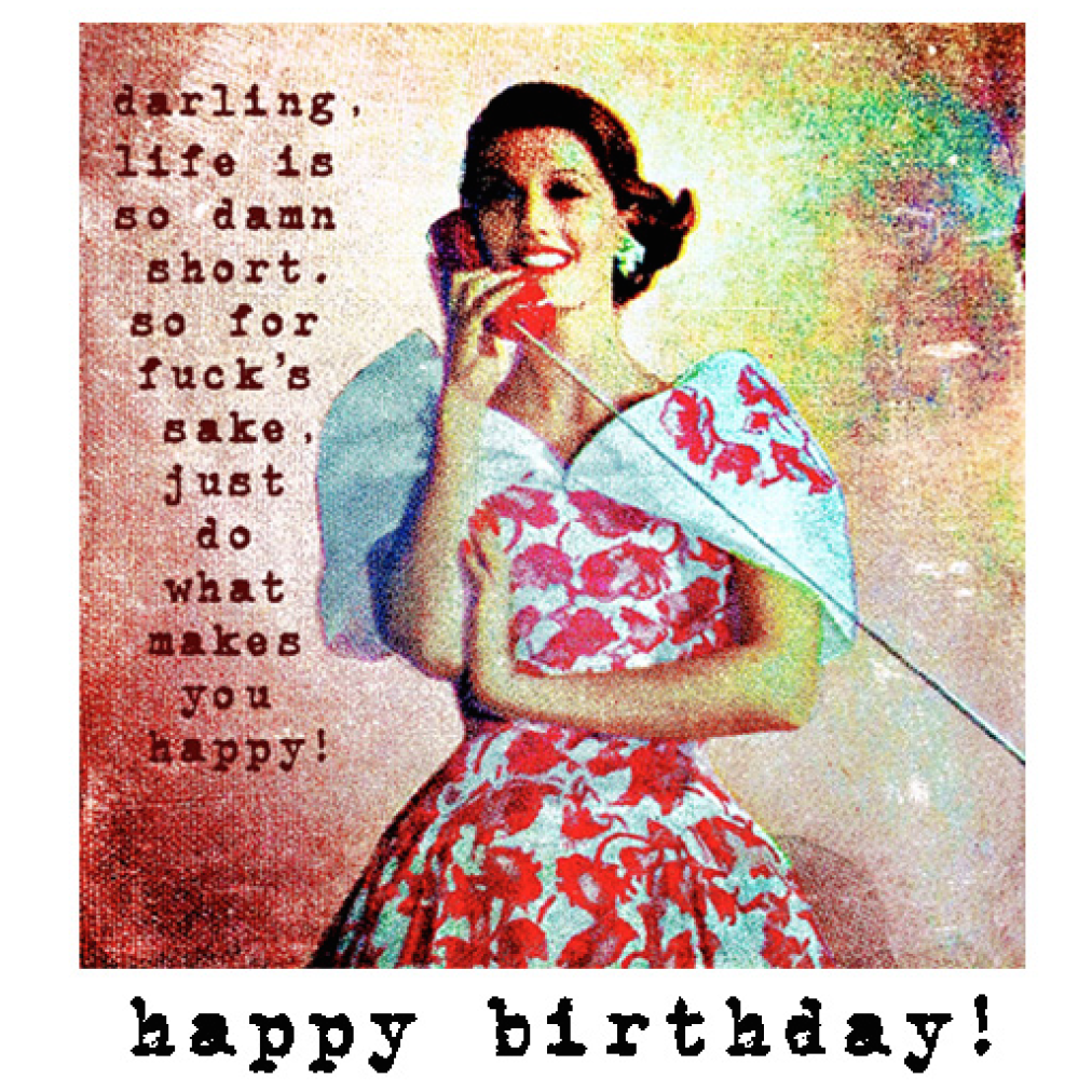 HAPPY BIRTHDAY LIFE IS SO DAMN SHORT CARD-PAPER LOVE BOUTIQUE-Kitson LA