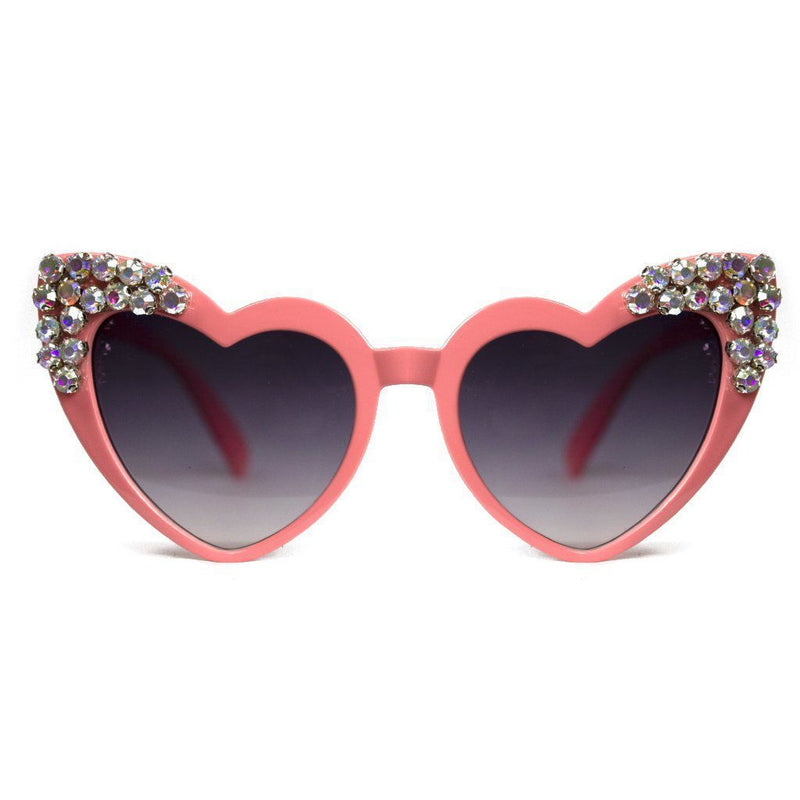 HEART EYES CRYSTAL SUNGLASSES-LOLA AND THE BOYS-Kitson LA