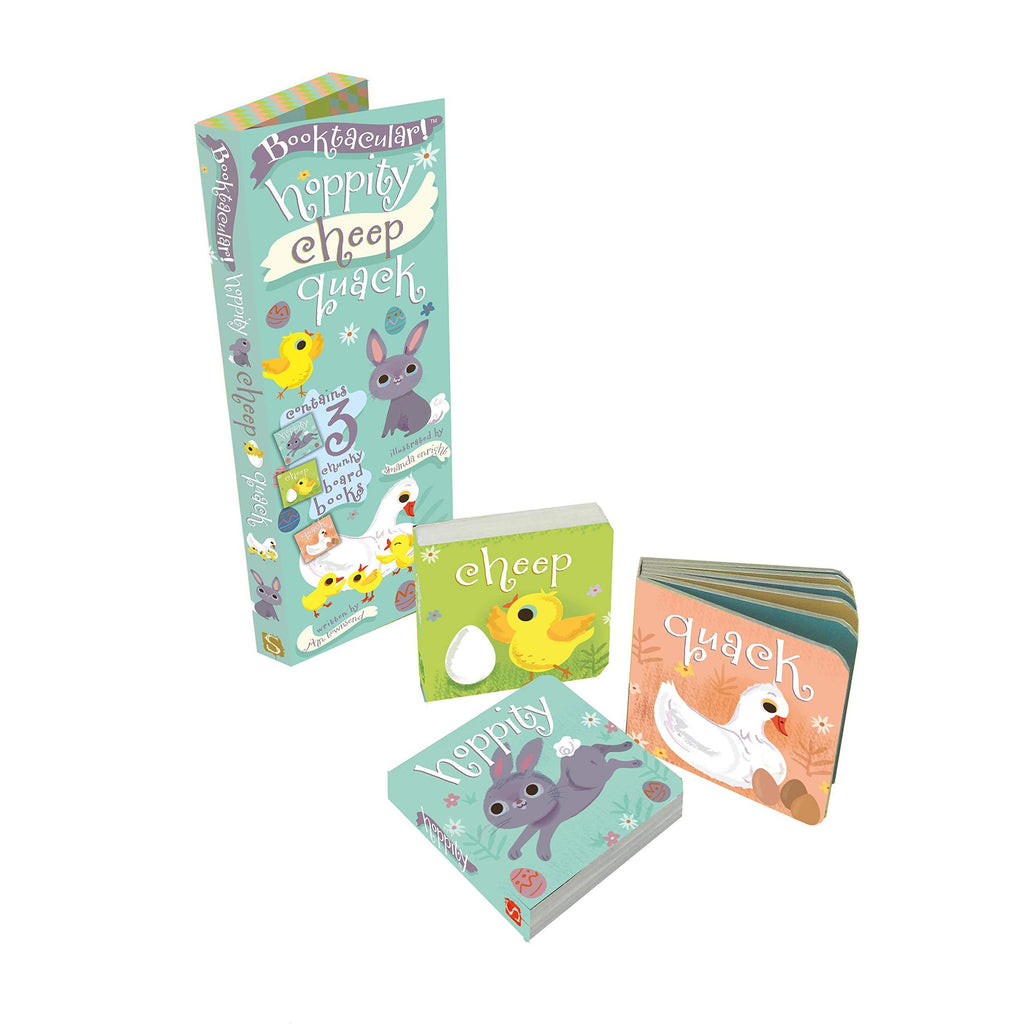 HOPPITY! CHEEP! QUACK! BOARD BOOK SET-sterling publishing-Kitson LA