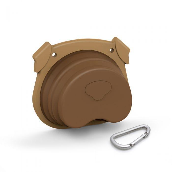 HOWLIGANS COLLAPSIBLE DOG BOWL-FRED AND FRIENDS-Kitson LA