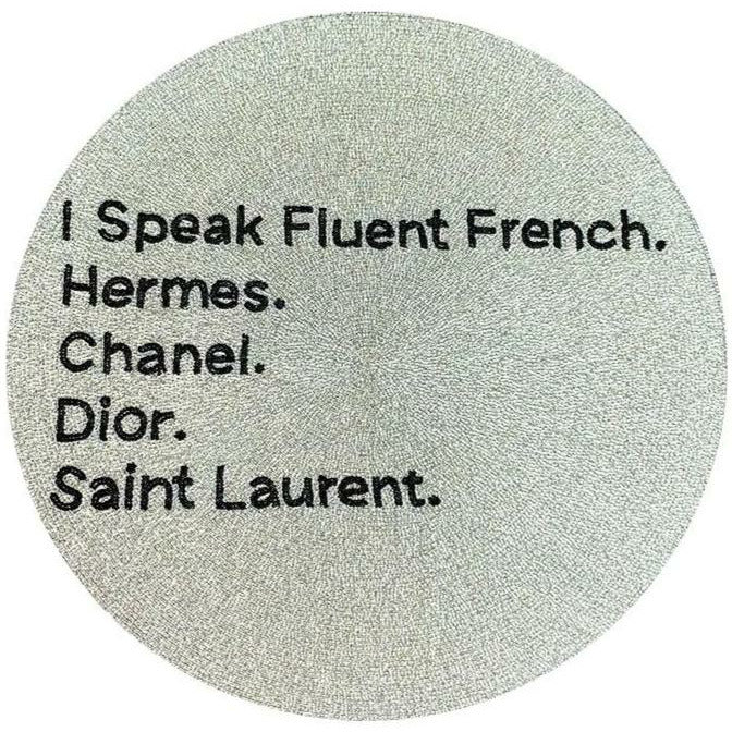 I SPEAK FLUENT FRENCH BEADED PLACEMAT-TIANA DESIGNS-Kitson LA