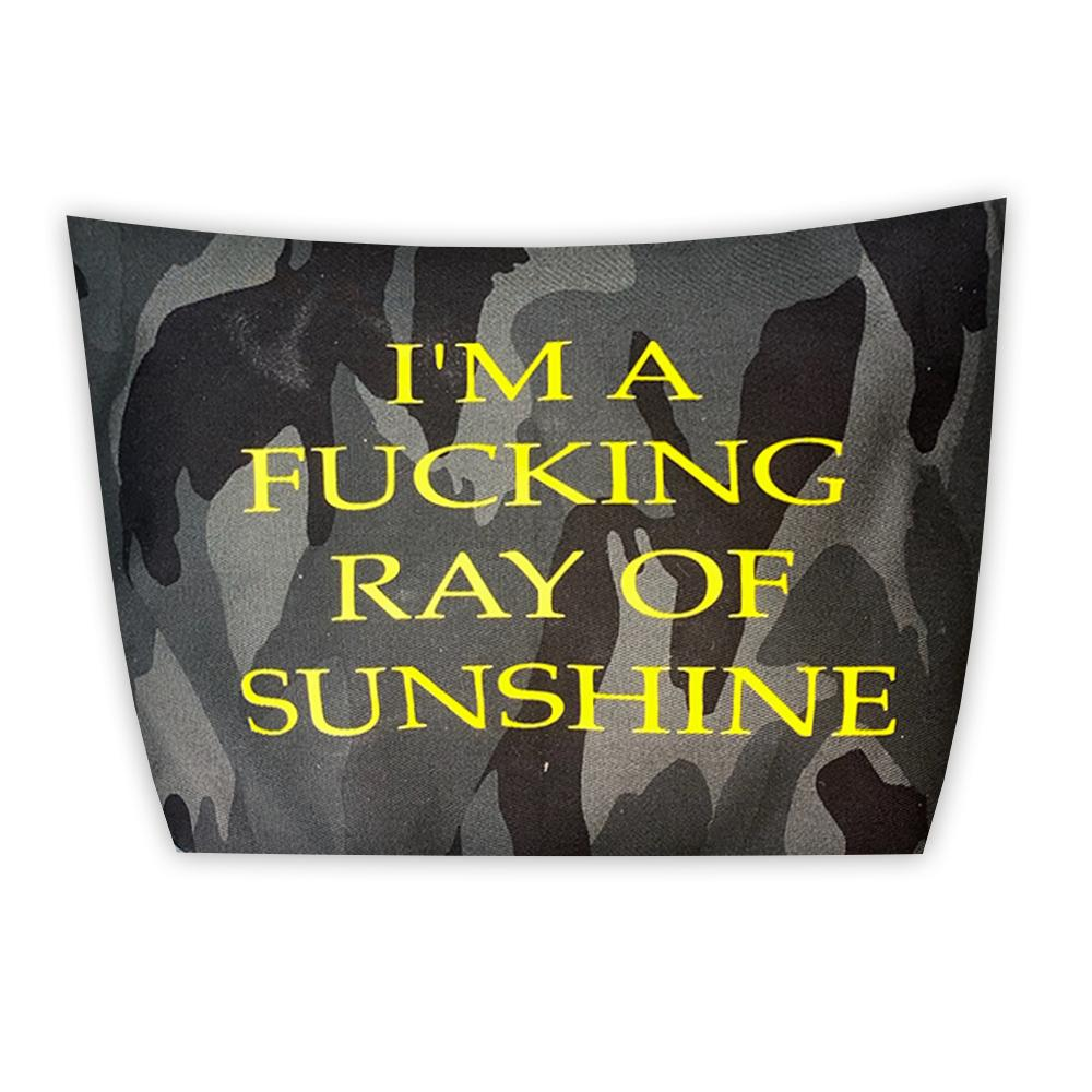 I'M A RAY OF F*CKING SUNSHINE POUCH-TOTEM SALVAGED-Kitson LA