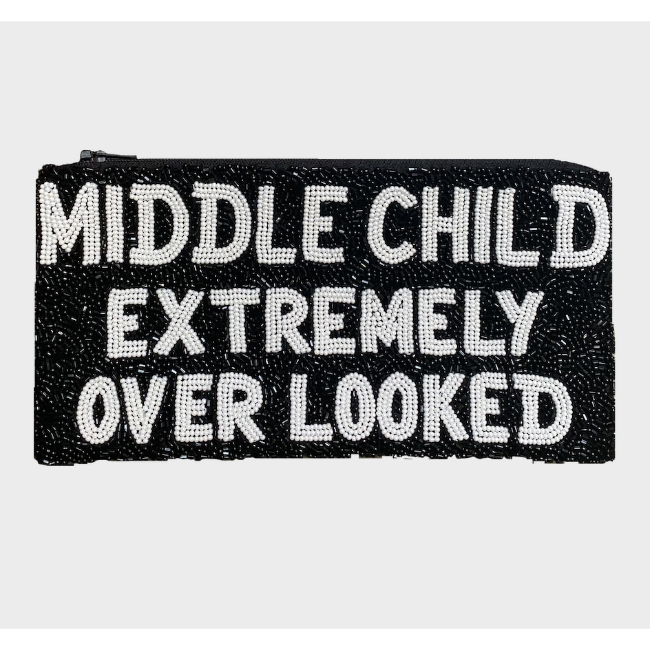 I'M THE MIDDLE CHILD (EXTREMELY OVERLOOKED) NARROW PENCIL CASE-TIANA DESIGNS-Kitson LA