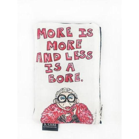 IRIS QUOTE COIN PURSE-KAHRI BY KAHRI ANNE KERR-Kitson LA