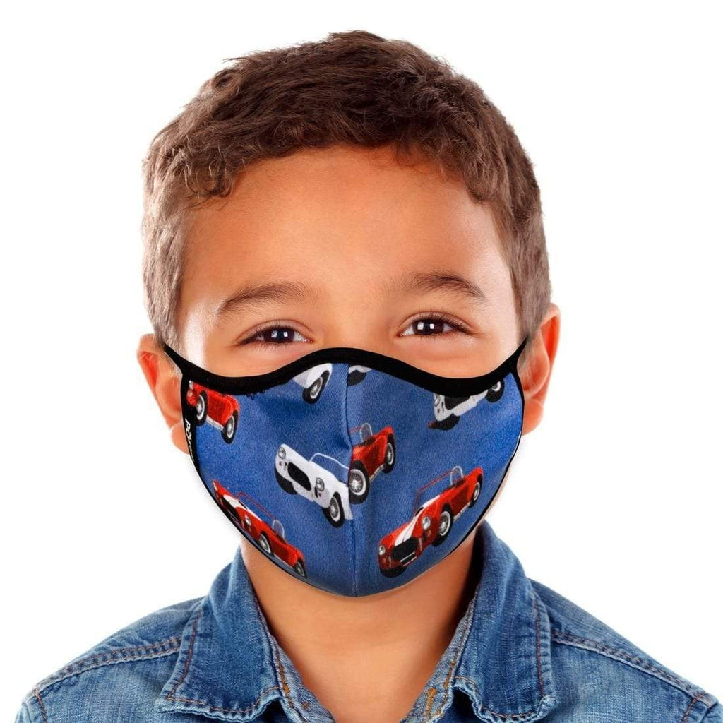 KIDS CARS FACE MASK WITH FILTER POUCH-MASQD-Kitson LA