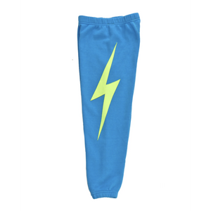 KIDS NEON BOLT STITCH SWEATPANT-AVIATOR NATION-Kitson LA