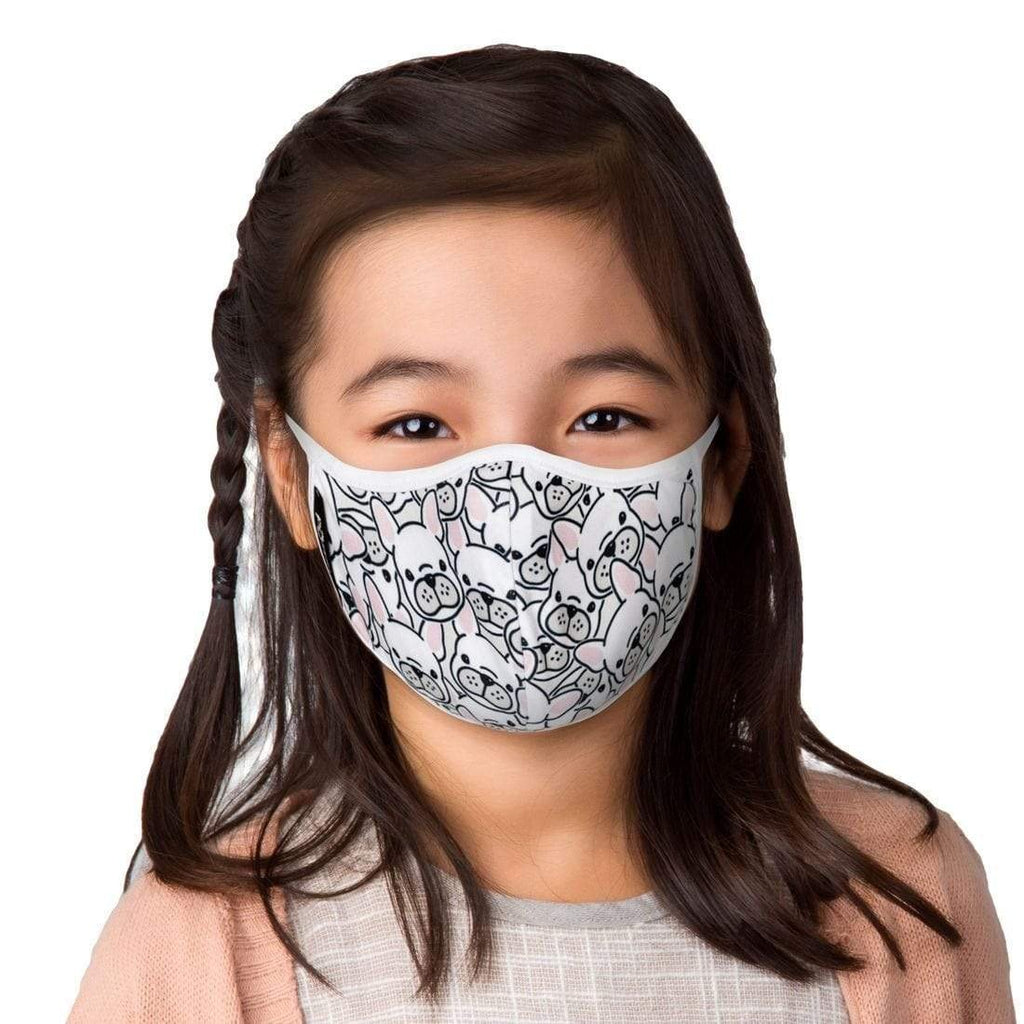 KIDS PUPPIES FACE MASK WITH FILTER POUCH-MASQD-Kitson LA