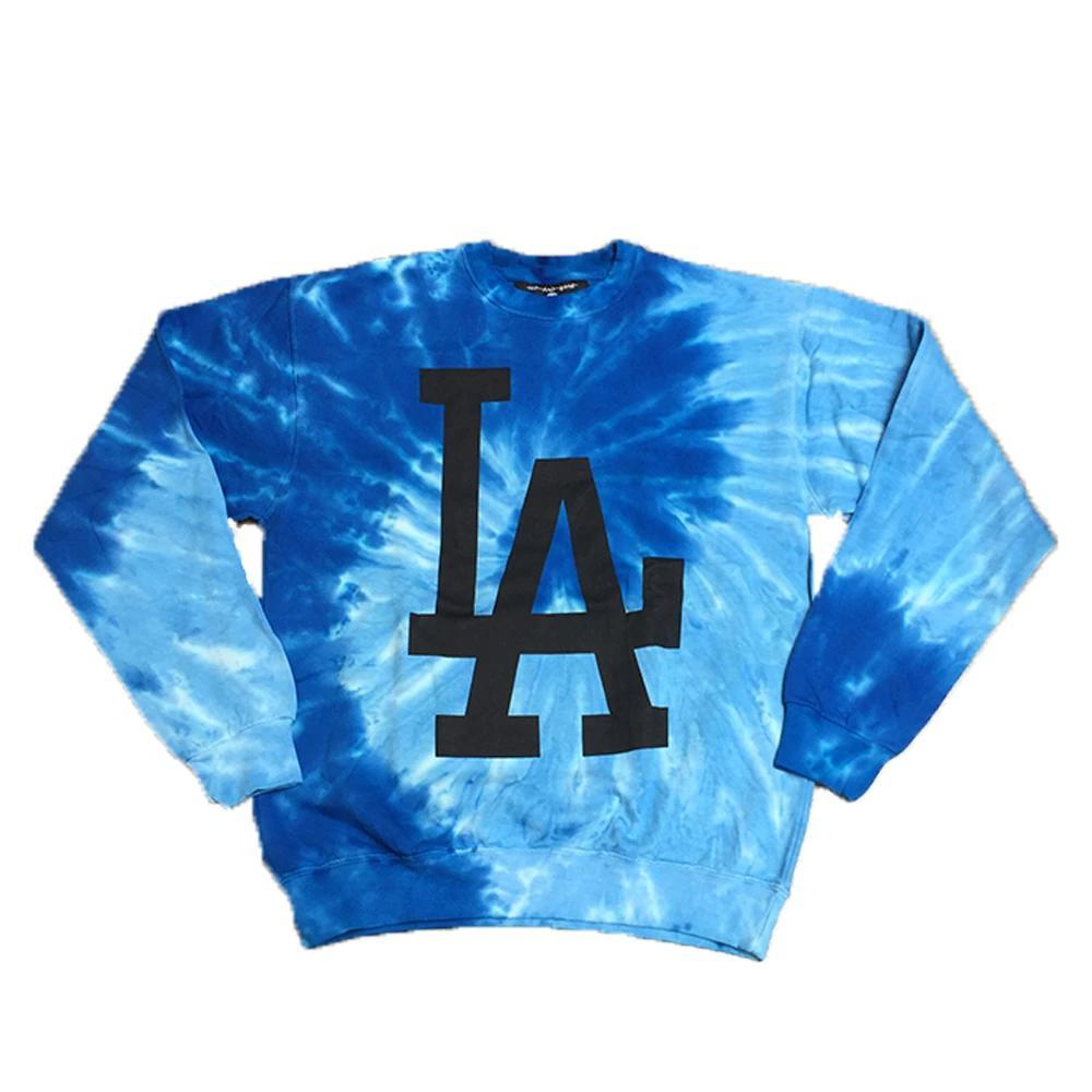 LA TWISTED TIE DYE CREW PULLOVER-HIP AND BONE-Kitson LA
