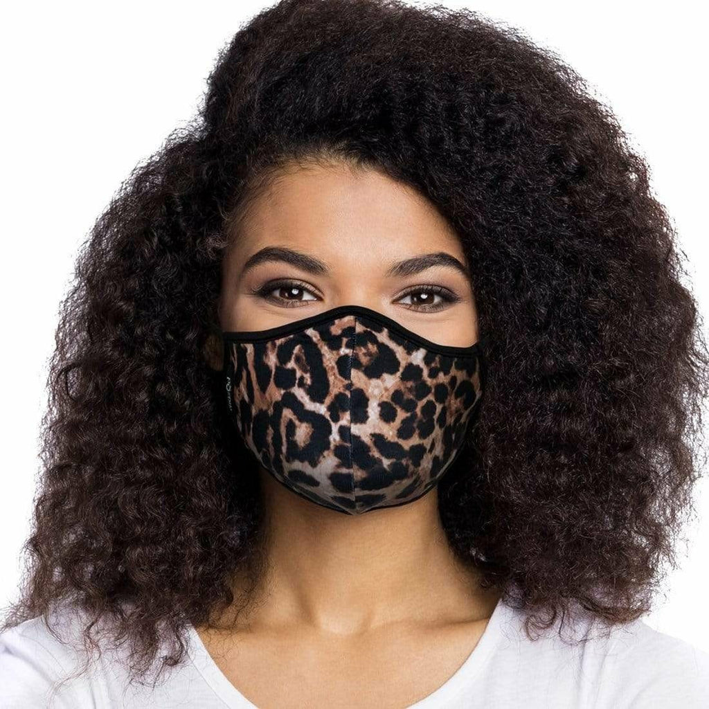 LEOPARD FACE MASK WITH FILTER POUCH-MASQD-Kitson LA