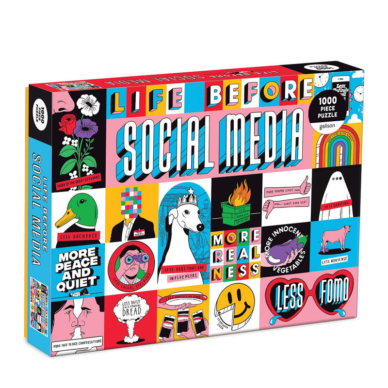 LIFE BEFORE SOCIAL MEDIA 1000 PUZZLE-HACHETTE BOOK GROUP-Kitson LA