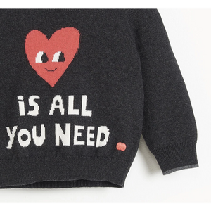 LOVE IS ALL YOU NEED SWEATER KIDS-BONNIE BABY-Kitson LA