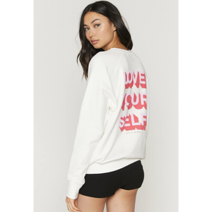 LOVE YOU SELF CLASSIC CREW SWEATSHIRT-SPIRITUAL GANGSTER-Kitson LA