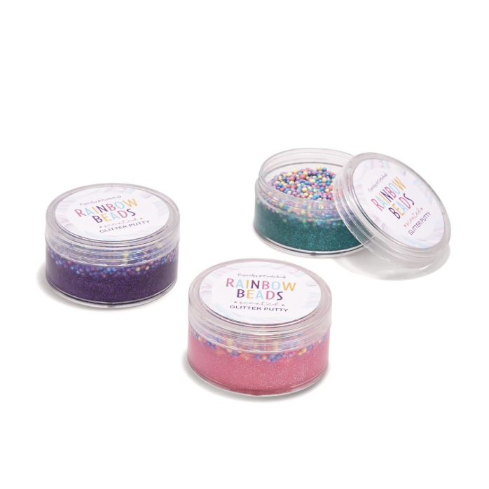 MAGI-COOL RAINBOW BEADS SCENTED GLITTER PUTTY-TWO'S COMPANY-Kitson LA