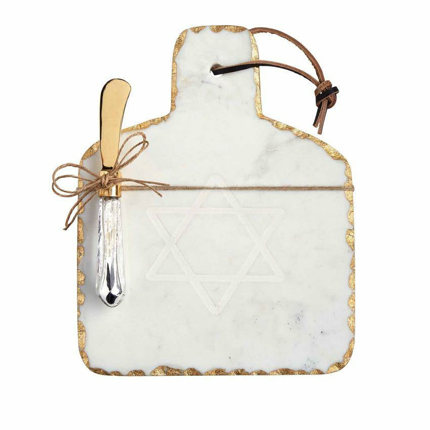MARBLE HANUKKAH SERVING BOARD-MUD PIE-Kitson LA